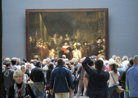 Centerpiece of the renovated Rijksmuseum in Amsterdam, The Nightwatch by Rembrand. The 12-year, multi-million-dollar renovation was completed in 2013.