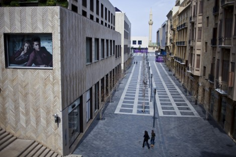 A woman walks in the Beirut Souks shopping region. (Natalie Naccache)