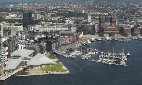 Astrup Fearnley Museum on the Oslo waterfront