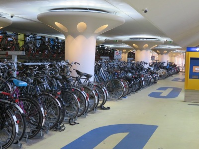 Mammoth bicycle garage in Houten (about 35 mins from Amsterdam)