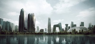 Chaoyang Park Plaza rendering courtersy of MAD architects