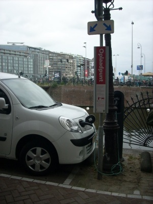 On-street charging station in Amsterdam