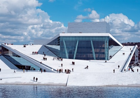 Oslo Opera House designed by Snohetta