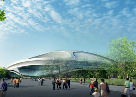 Tokyo's Olymic Stadium for the 2020 Games. Courtesy of Dezeen