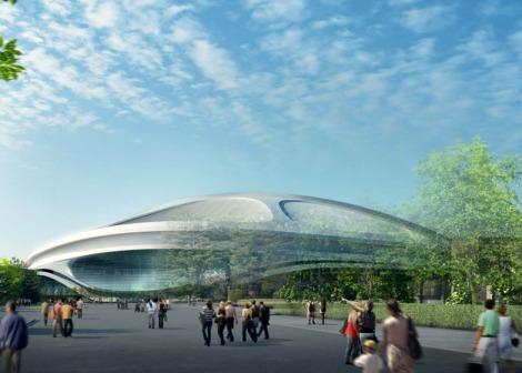 Tokyo's Olymic Stadium for the 2020 Games. Courtesy of Dezeen