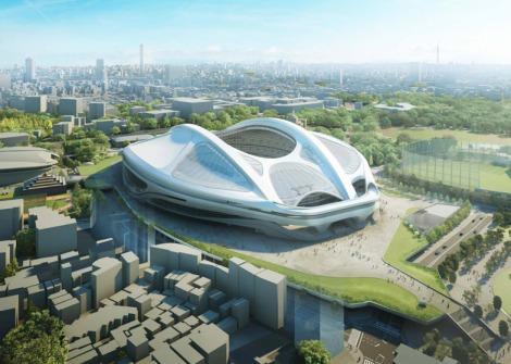 Zaha Hadid's modified stadium design. Courtesy of Dezeen