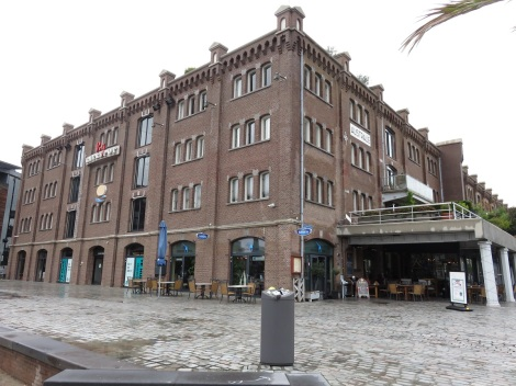 Entrepot Warehouses reused as residences and restaurants in Rotterdam.