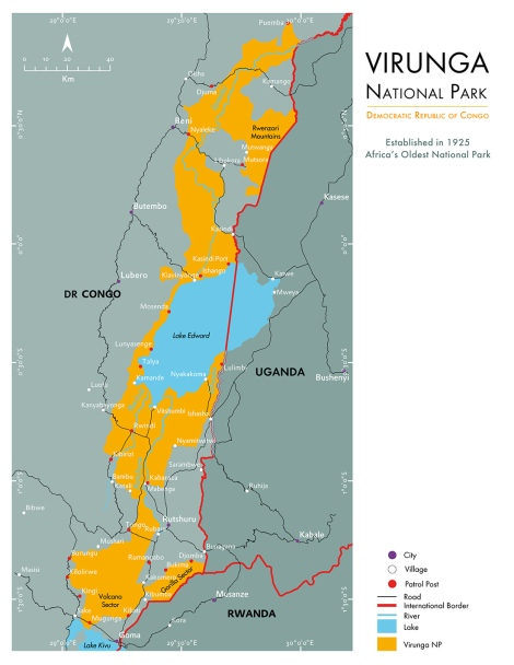 Virunga National Park Map