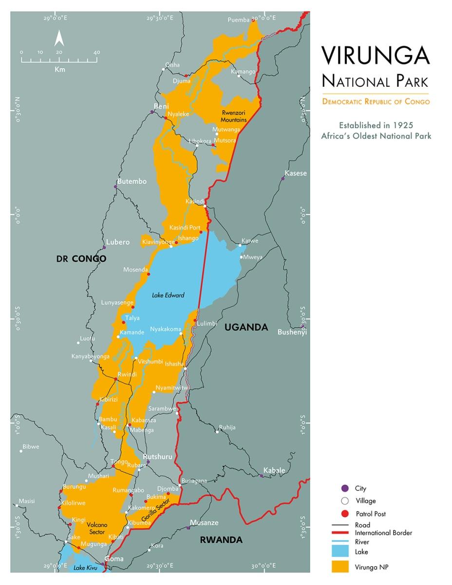Virunga National Park Map