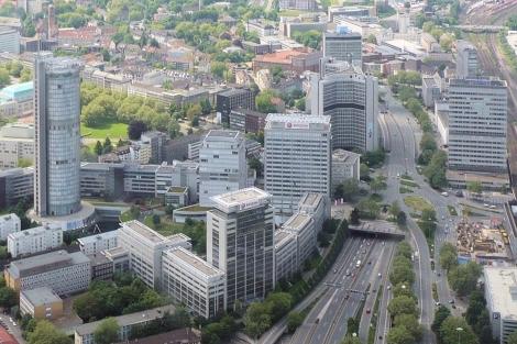 Aerial shot of Essen