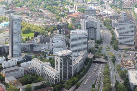 Aerial shot of Essen