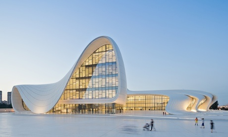 Heydar Aliyev Centre courtesy of the Guardian