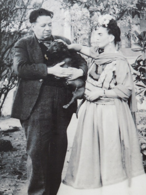 Diego and Frida with one of their dogs