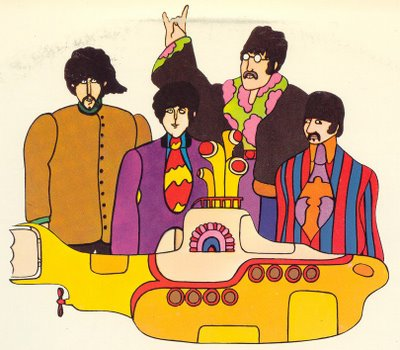 Who can forget Milton Glaser's designs for The Beatles' Yellow Submarine. (Copyright Milton Glaser)