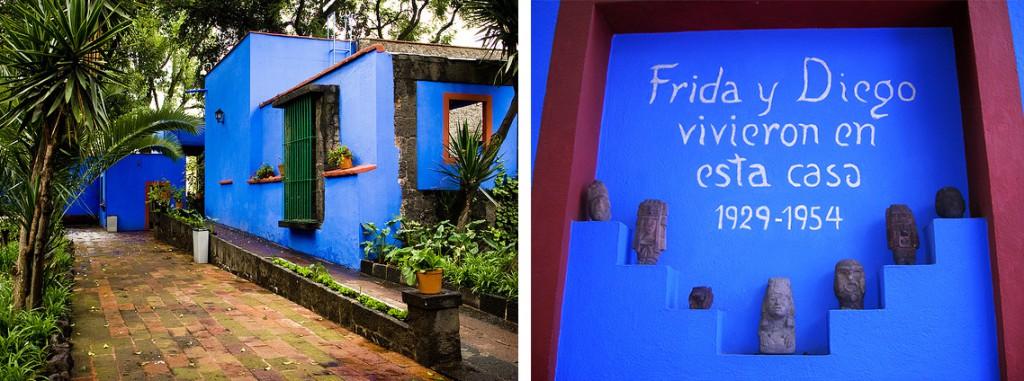 Museo Frida Kahlo with exterior shots of the Casa Azul.