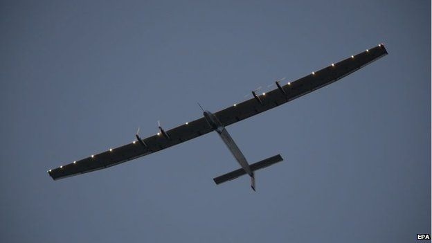 Solar Impulse in flight. Courtesy of SI2