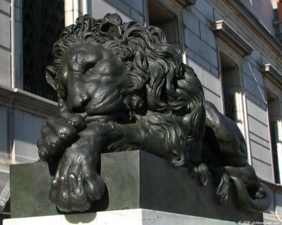 The Canova lions in bronze at The Corcoran Gallery of Art Washington DC