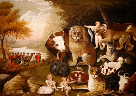 The Peaceable Kingdom Edward Hicks. Courtesy of the Brooklyn Museum.