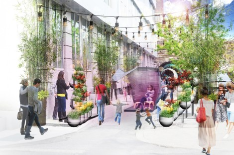 One of 10 interactive installations along Pearl Street Passage is part of this year's Philadelphia design week.