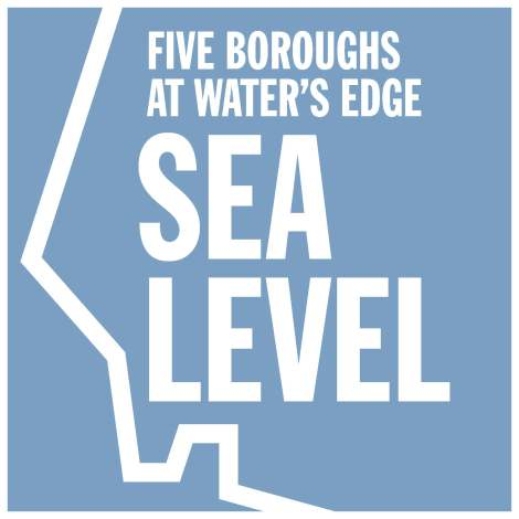Sea Level exhibition on the impacts on NYC's 5 boroughs is on view during Archtober.