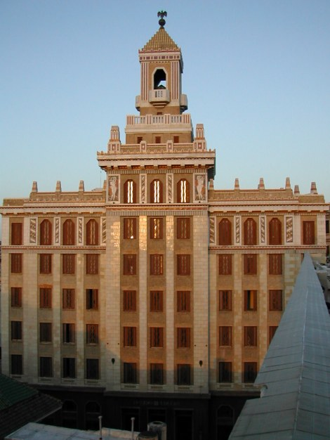 Havana's Bacardi Building, one of the best examples of Art Deco