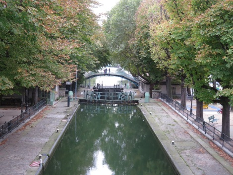Opened in 1825, Canal St.-Martin extends 3 miles, and was once a shortcut for river traffic on the Seine. Today the area is full of shops, restaurants and apartments for a new generation (Oct 2014) Bobbie Faul-Zeitler CC - 3.0