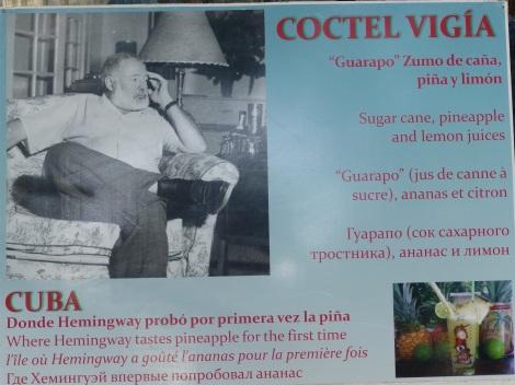 Papa Hemingway with an often-repeated recipe - restaurant near Finca Vigia