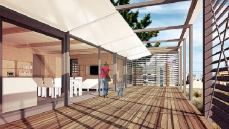 Walkway adds plenty of outdoor living space