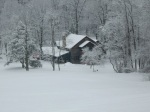 The lodge at Cacapon State Park (West Virginia) is a winter wonderland, but not this year! (Bobbie Faul-Zeitler, CC 3.0)