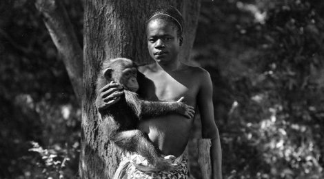 Ota Benga at the Bronx Zoo in 1906 Credit Wildlife Conservation Society