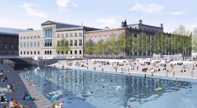 Artist rendering of Flussbad Canal in Berlin