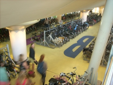 Double-decker bike garage in Utrecht, The Netherlands (Photo by Bobbie Faul-Zeitler, CC 3.0)