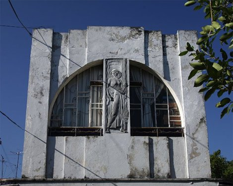 Facade of the Garcia Cabrera house. Cuban painter, professor and graphic artist; he designed many art deco style covers for Cuban magazines Bohemia and Carteles, and he crafted the bronze reliefs on the doors of Cuba's former seat of government, El Capitolio.