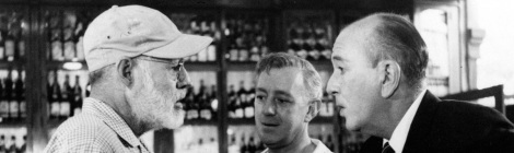Sloppy Joe's bar in Havana was used as the setting for Our Man in Havana (1959), here a photo of Ernest Hemingway with actor Sir Alec Guinness, who starred in the film. Sloppy Joe's was the inventor of the Sloppy Joe sandwich. (Courtesy AP Photo file)
