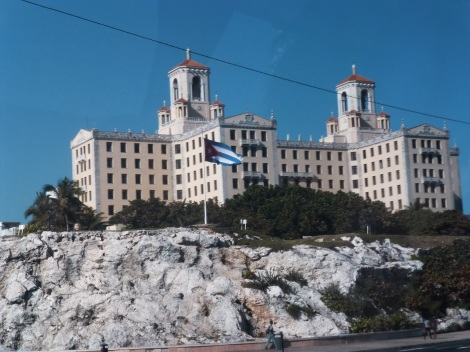 Hotel Nacional from the Malecon, the place where land meets the sea