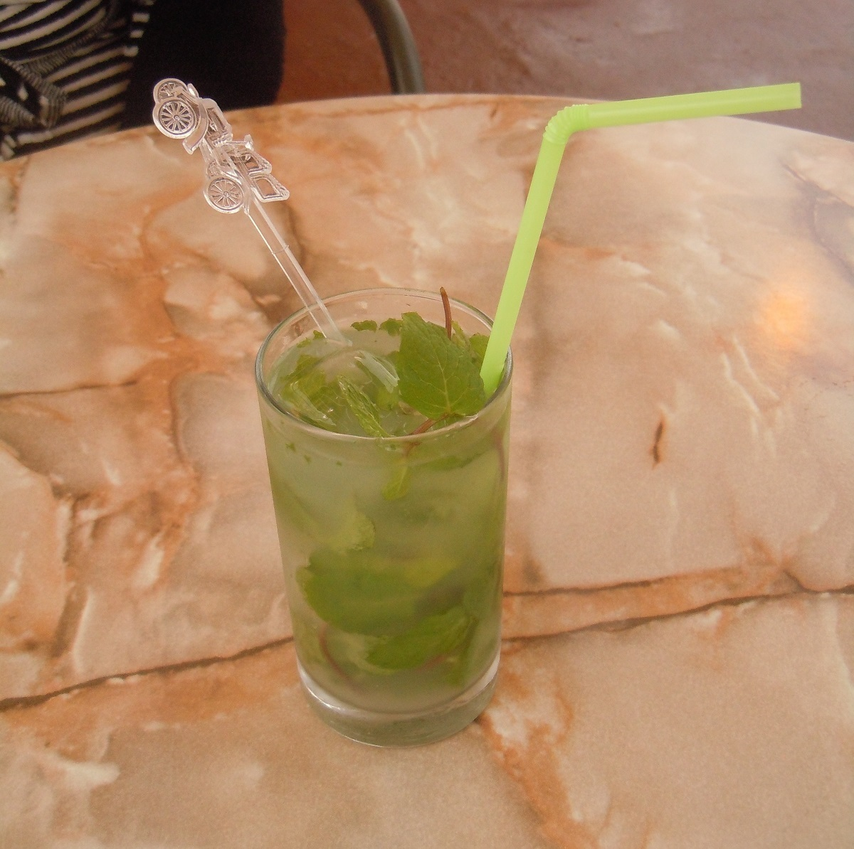 The Mojito, a highball drink still popular in Cuba, is made of white rum, sugar cane juice, lime juice and sparkling water. Essential on the to-do list when you're visiting Cuba. (Photo by Meg Maguire.)