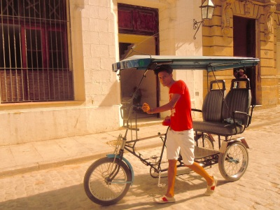 Pedicabs are a popular way to get around. Photo by Meg Maguire