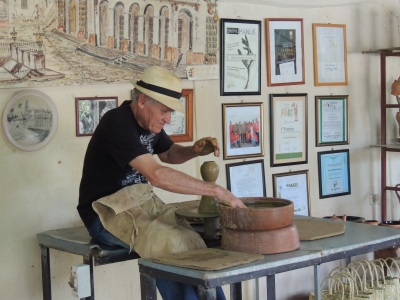 Potter at work in Trinidad