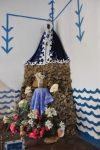 Santeria still practiced in Cuba is an Afro-Christian religion. Here a shrine