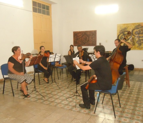 String ensemble performs in Cienfuegos. Photo by Meg Maguire