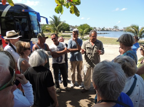 Tour group gets briefed at Cojimar