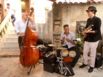 Music is everywhere in Cuba! Here a trio entertains at dinner. Photo courtesy of Meg Maguire