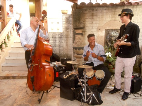 Trio performs at dinner (Photo by Meg Maguire)
