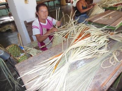 Basket weavers in Trinidad