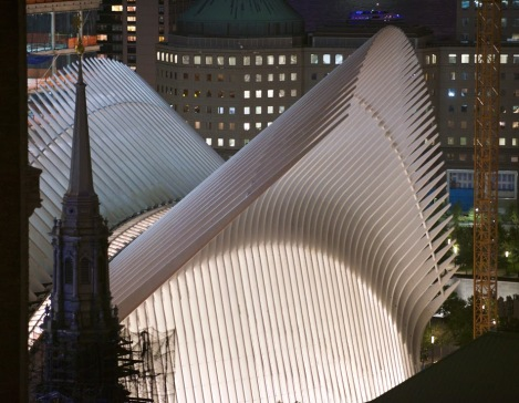 World Trade Center Hub by Santiago Calatrava. Photo by Craig Nevill Manning Curbed.