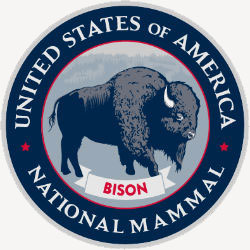 Bison national mammal logo