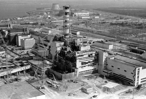 Reactor 4 at Chernobyl. It took the former Soviet government 36 hours to declare an emergency and begin evacuation.