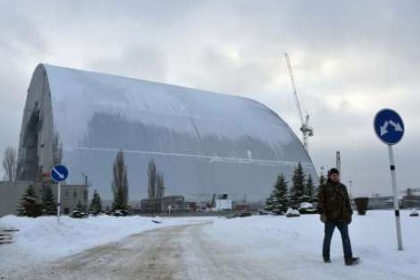 New safe confinement arch will cover the reactor, expected to be completed in the near future.