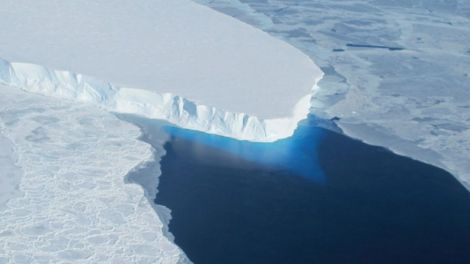 Thwaites Glacier of Antarctic ice Sheet NASA via Reuters