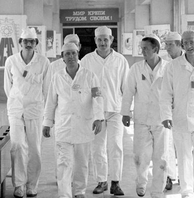 Workers at Chernobyl pre-disaster